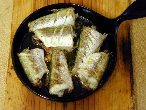 アカカマスのオリーブオイル焼き