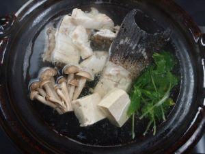 オオモンハタのちり鍋