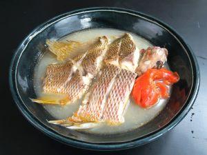 フエダイの酒塩煮