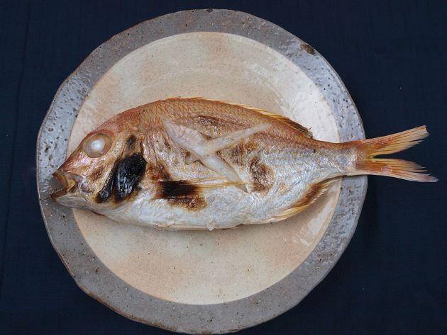 キビレアカレンコの塩焼き