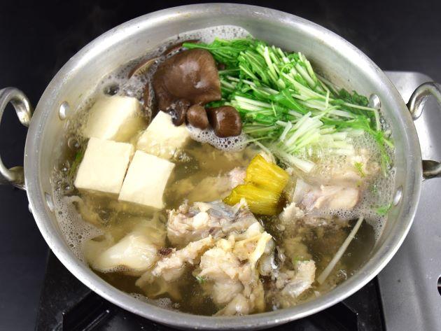 ヒトヅラハリセンボンの鍋