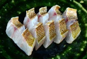 ヨコスジフエダイのバター焼き