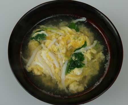 シラウオの卵とじ