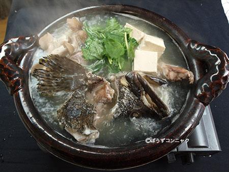 タマカイのちり鍋
