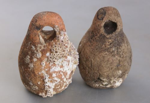 瀬戸内海明石で使われていたイイダコ用の蛸壺
